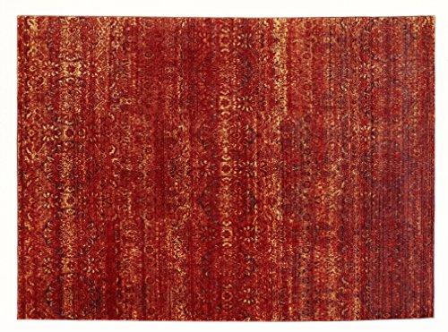 JINGLE STYLE moderner Designer Teppich in kupfer, Größe: 70x140 cm -