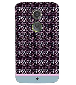 PrintDhaba Key Pattern D-1007 Back Case Cover for MOTOROLA MOTO X2 (Multi-Coloured)