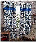 Kanha 4 Piece Polyester Floral Door Curt...