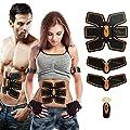 [neue Version 2018] ABS Muskeltrainer Bauchstraffung Gürtel ABS Toner Bauch Körper Muskeltrainer Wireless ABS fit Training Gear für Bauch/Arm/Oberschenkel/Taille Unterstützung für Männer und Frauen von TZLong