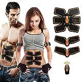 ABS Muskeltrainer Bauchstraffung Gürtel ABS Toner Bauch Körper Muskeltrainer Wireless ABS fit Training Gear für Bauch/Arm/Oberschenkel/Taille Unterstützung für Männer und Frauen