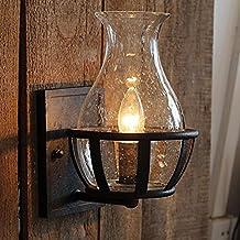 VanMe Jarrón De Cristal Apliques Antiguos Forma Vintage Lámpara ...