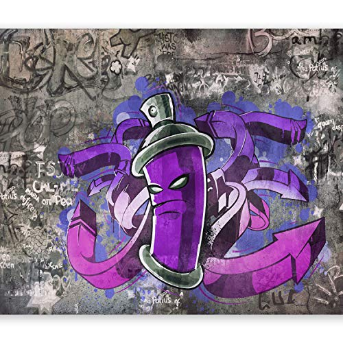 murando – Papier peint intissé – 350x256 cm – Trompe l oeil - Tableaux muraux – Déco – XXL Graffiti 10110905-3