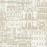BHF 2604-21256 Fassade Grundzüge Tapete Vintage - Beige