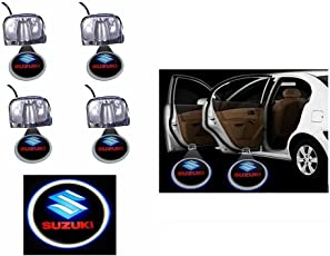 Rawat Stick On Car Door Ghost Shadow LED Light Set of 4 Suzuki Logo