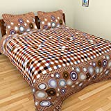 Ruby Polycotton Double Bedsheet with 2 P...