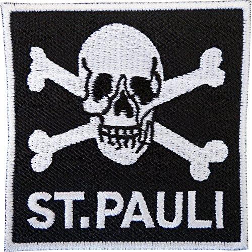 ST. PAULI Alemania bordado Sew hierro parche calavera