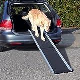 Trixie Aluminium Petwalk-Klapprampe für Hunde, 155 x 38 cm, Schwarz