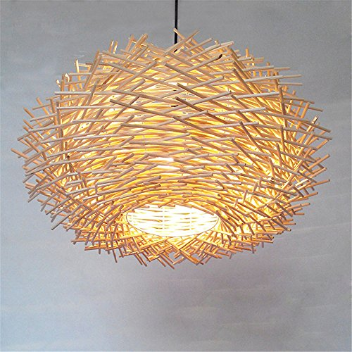 DADADAMAI Lampe suspendue moderne concise pour plafonniers / lumières suspendues classiques Lanterne suspension ,d'autres Fonction pour bois de style Mini/Salon Salle à manger Chambre Bambou