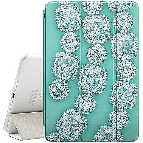 YOYOcovers [ FOR Apple iPad Mini 2 / 3 / 4 ] Smart Cover Automático Arriba / SueñoYOYOcovers [ FOR Apple iPad Mini 2 / 3 / 4 ] Smart Cover Automático Arriba / Sueño - Diamonds Gemstones Gems Green