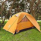 Bessport Zelt 2 Personen Ultraleichte Camping Zelt Wasserdicht 3-4 Saison Kuppelzelt Sofortiges Aufstellen für Trekking, Outdoor, Festival, mit kleinem Packmaß-Orange