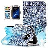 Samsung Galaxy S7 Handyh�lle Leder, Samsung Galaxy S7 H�llen silikon, Nnopbeclik� Premium PU  mit 3D-Gef�hl Lackrelief Creative Effekt Design Ganzk�rper-Schutzh�lle mit Magnetverschluss Kartenhalter Case Galaxy S7 - a6 Bild
