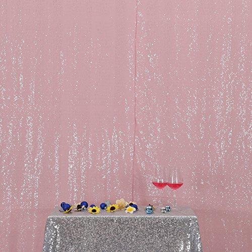 3E Home Rose Pailletten Hintergrund Stoff Vorhang Hochzeit, 7Ft X 7Ft
