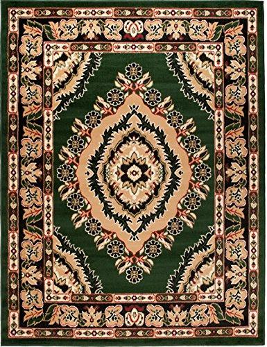 Alfombra 80 x 150 cm Verde Oriental Decoración Diseño/Carpeto Colección Verona