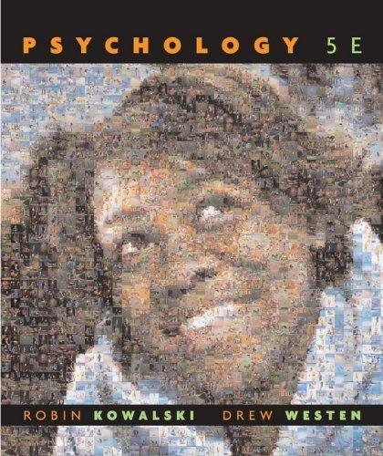 Psychology by Kowalski, Robin M., Westen, Drew (2008) Hardcover