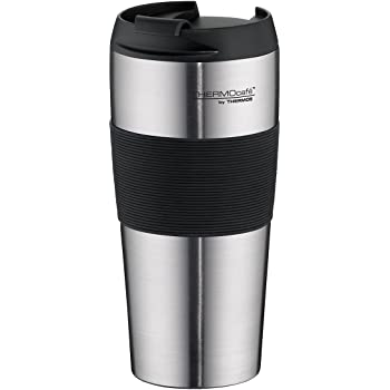 Thermos Caf by 4056.205.040 Insulated Drinking Cup Opro 0.4L Matte Stainless Steel