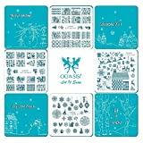 Cici & SISI Weihnachts Nail Art Stamping Kit Stempel Teller Maniküre DIY Vorlage 4 pieces-let IT SNOW