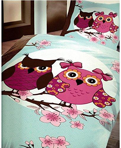 Ropa de cama de microfibra (2piezas con cremallera turquesa impresión Eulieb 1x 135x 200cm funda nórdica y 80x 80fundas de almohada Öko-Tex Standard 100