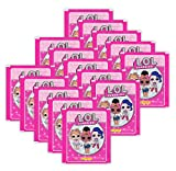 L.O.L. Surprise Panini Collectible Dolls Sammelsticker - 15 Booster Tütchen 75 Sticker
