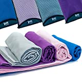 Quick Dry Towel - Lightweight - Highly Absorbent - Compact - Travel - Soft Microfibre - 100% Moneyback Guarantee - Large - Best For Yoga Pilates Bikram Beach Sports Gym And Swimming - Includes *FREE* Storage Bag *FREE* Weight Loss E-Book, Purple