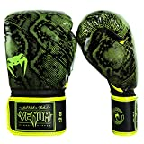 Venum Fusion Boxing Gloves - Neo Yellow/Black, 12 oz