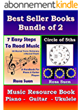 Music Theory Books Bundle of 2  -  7 Easy Steps to Read Music & Circle of 5ths -  Music Resource Book: Music Resource Book for Piano, Guitar & Ukulele players (English Edition)