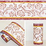 LoveFaye Peel & stick–Cenefa para cocina dormitorio extraíble pared fronteras rollo retro Vine