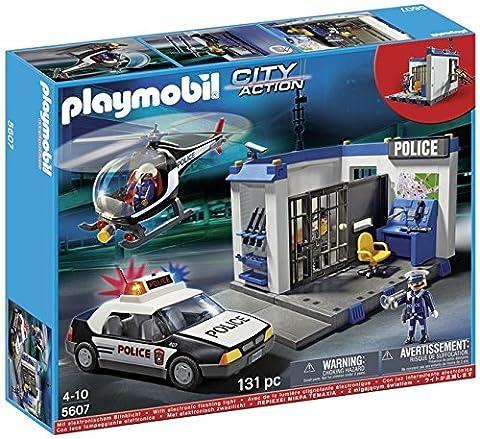Playmobil - 310011 - City Action - 5607 - Poste Police Et Hélicoptère