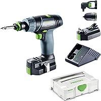 Festool TXS Li 2,6-Set drill Schwarz, Grün, Grau 900 g - Drills (8 mm, 1,2 cm, 16 Nm, 16 Nm, 400 RPM, 1200 RPM)