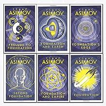isaac asimov foundation series 6 books collection set - (foundation,foundation and empire,second foundation,prelude to foundation,foundation and earth,foundation's edge)