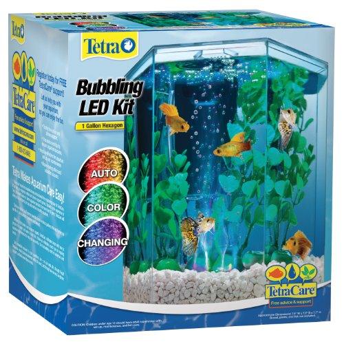 Tetra 29040Sechseck Aquarium-Set mit LED Erzeugung, Dispersionsfarbe für Beton