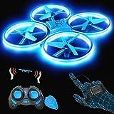 SNAPTAIN SP300 Mini Drone, Quadricottero RC Azionato a Mano con modalità G-Sensor, Lancia e Vola, 3D Filp, modalità Hovering,