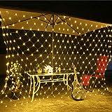 3M * 2M 2M * 2M 1 5M * 1 5MLED-Lichternetz Hof Wasserdichte blinkende Lichterketten Weihnachtsbeleuchtung im Freien LED-Lichterketten-White_3X2M_200LEDs