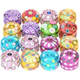 Party Gifts : Set of 16 3.5cm Glittery Trinket Boxes - Girls Birthday Glittery Party Bag Fillers! Fantastic Party Pack Gift Set Christmas Xmas Stocking Filler Quality Present Idea for girls, women, kids and children