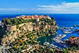City On The Rock And Harbor Monaco Europe Home Decor Art
