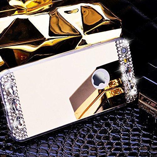 iPhone 6s Hülle Glitzer,Bling Hülle Case für iPhone 6,Ekakashop Luxus Strassspiegel Champagner Funkelnsternen Sparkle TPU Silikon Defender Protective Schutzhülle Rückseite Schale Praktisch Back Case C Strassspiegel Champagner