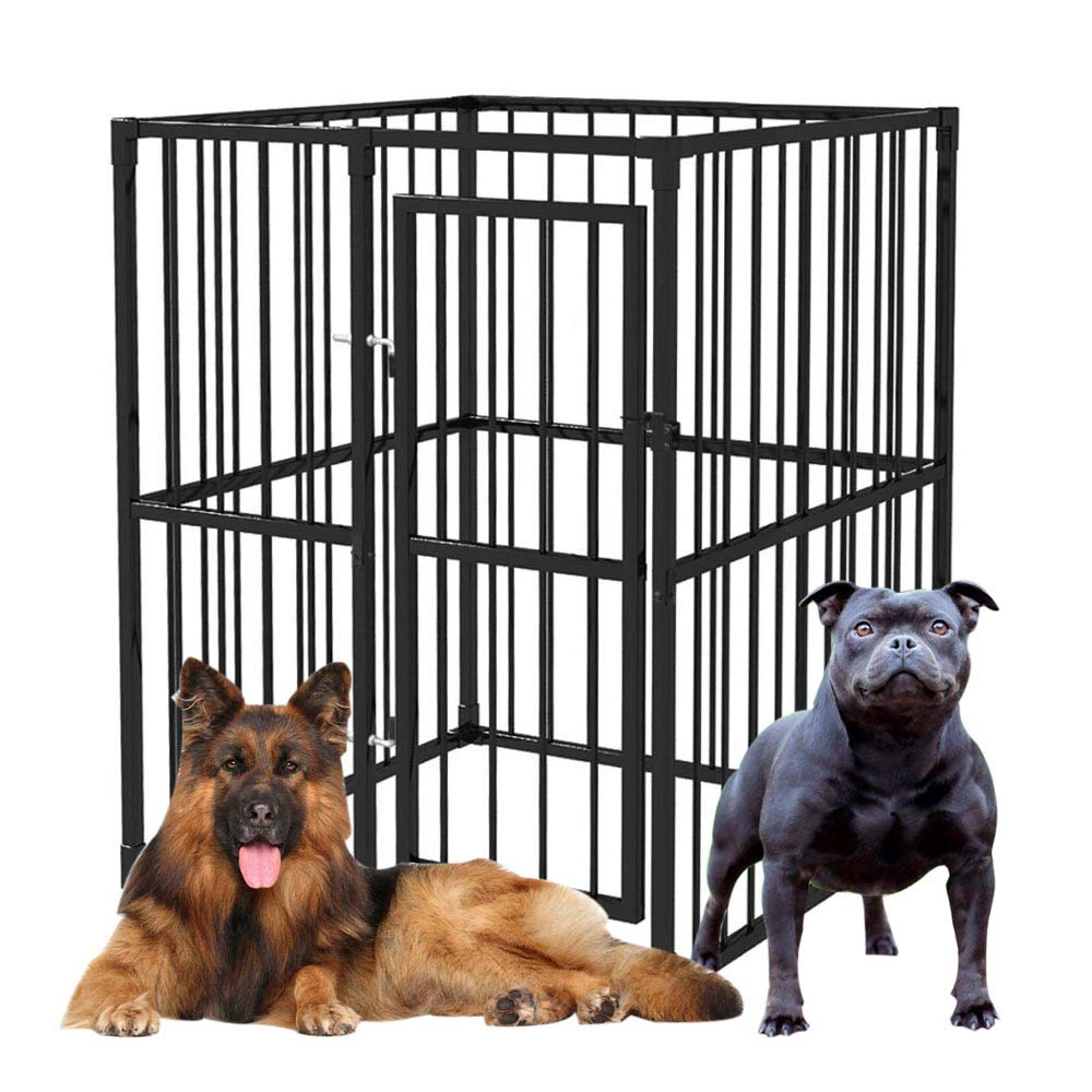 Dog Kennel, Pet Cage Dog Crate Heavy-Duty Outdoor 120×120 cm
