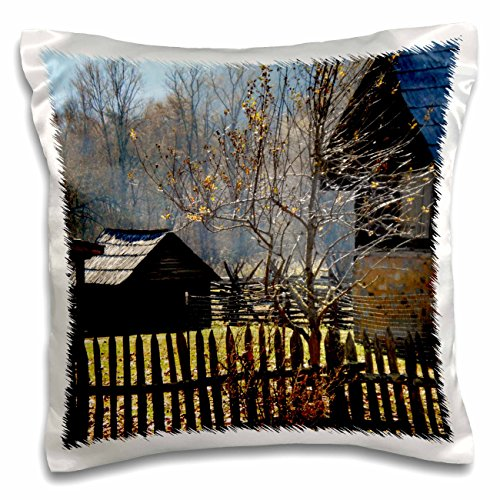 ET Photography Nature Scenes - A homestead at Cades Coves in the Smokey Mountains - 16x16 inch Pillow Case (pc_172319_1) (Mountains Cove Smokey Cades)