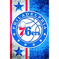 "Trends International Philadelphia 76ers Logo, 22"" x 34"", Wall Poster, Multi-Colored, 22"" by 34"""