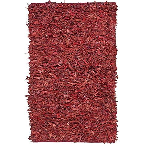 Safavieh Arya piel rojo 121x 182cm