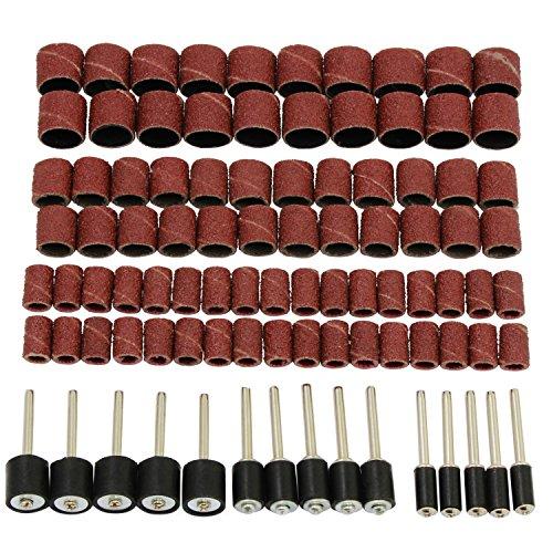 HSeaMall 165PCS Drum Sanders 120Grits Rotary Drum Schleifscheiben Bands Rotary Drill Bits Set Mit Drum Mandrels Für Dremel Rotary Drl Werkzeug