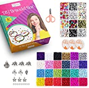ESSEN 3800 pcs 4mm Seed Beads and 880 pcs Alphabet Letter Beads Jewellery Making DIY Bracelet Craft Kit for Gi