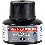 edding BTK 25 navulinkt whiteboardmarker - zwart - 25 ml - met druppelsysteem, voor snel navullen van vrijwel alle whiteboard