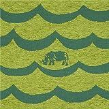 Limettengrünes dunkelgraues Wellenmuster Nashorn Tier