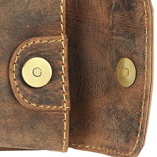 Green Burry Leder Handy-Gürteltasche Vintage antikbraun Braun