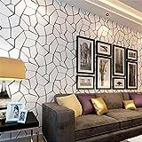 MFFACAI Papier Peint Moderne Minimaliste Noir et Blanc Motif géométrique 3D Relief Papier Peint pour Salon/Chambre à Coucher/Mur de télévision