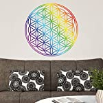 Wall Decal Flower of Life rainbow color, wall tattoo, wall stickers, wall tattoos, wall decals