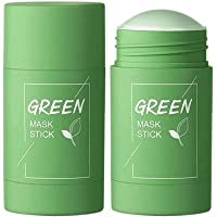 Qumeidie Green Tea Purifying Clay Stick Mask Oil Control Anti-Acne Eggplant Solid Fine, Portable Cleansing Mask Mud…