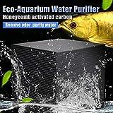 Liamostee Filtro depuratore d'Acqua a Carboni Attivi per Acquario a cubetti di purificatore d'Acqua Eco-Aquarium