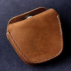 Bolsa de munición de gránulos de piel auténtica hecho a mano Bolsa de almacenamiento para Honda catapulta bolas